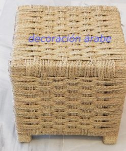 Taburete artesanía marroquí rafia