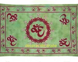 colcha india hari Om verde