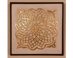 Medallón Alhambra  en pan de oro y estuco