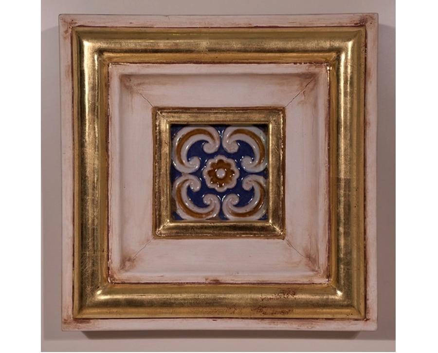Azulejo antiguo enmarcado granadino decoraci n y for Azulejos antiguos sevilla