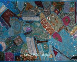 tapiz india celeste