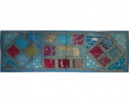 tapiz india alargado celeste