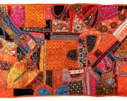 tapiz india gran calidad naranja