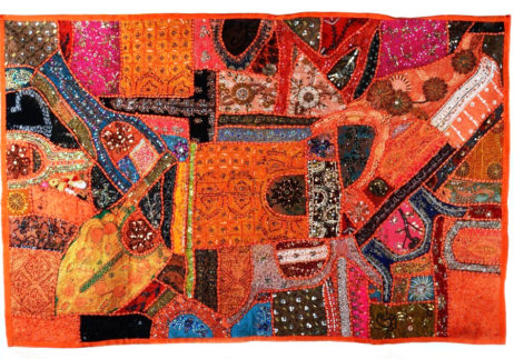 tapiz india naranja