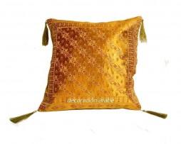cojín árabe seda acolchado