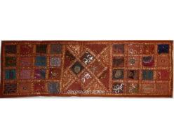 tapiz india alargado naranja