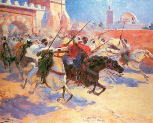 pintura de marruecos, reproducción