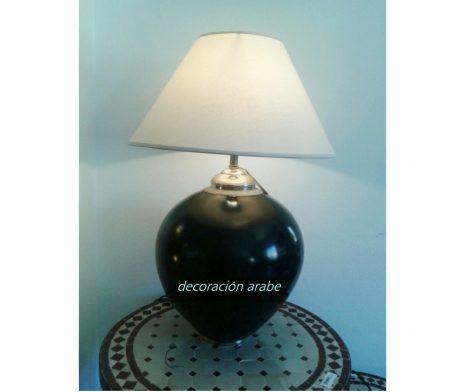lámpara mesa Marrakech negro