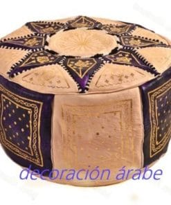 puff cuero árabe marroquí morado