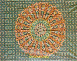 colcha india Concha flora