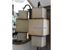 lámpara oriental Shinto piel