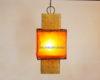 lámpara oriental shinto amarillo