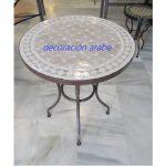 mesa marroquí mosaico y forja