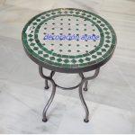 mesa árabe mosaico verde