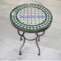 mesa marroquí mosaico verde