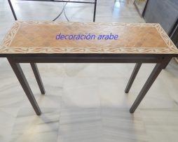 mesa marroquií floral consola