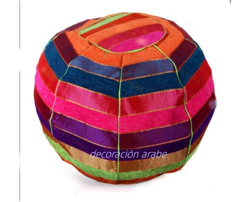 puff india étnico multicolor