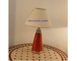lámpara mesa árabe marrón