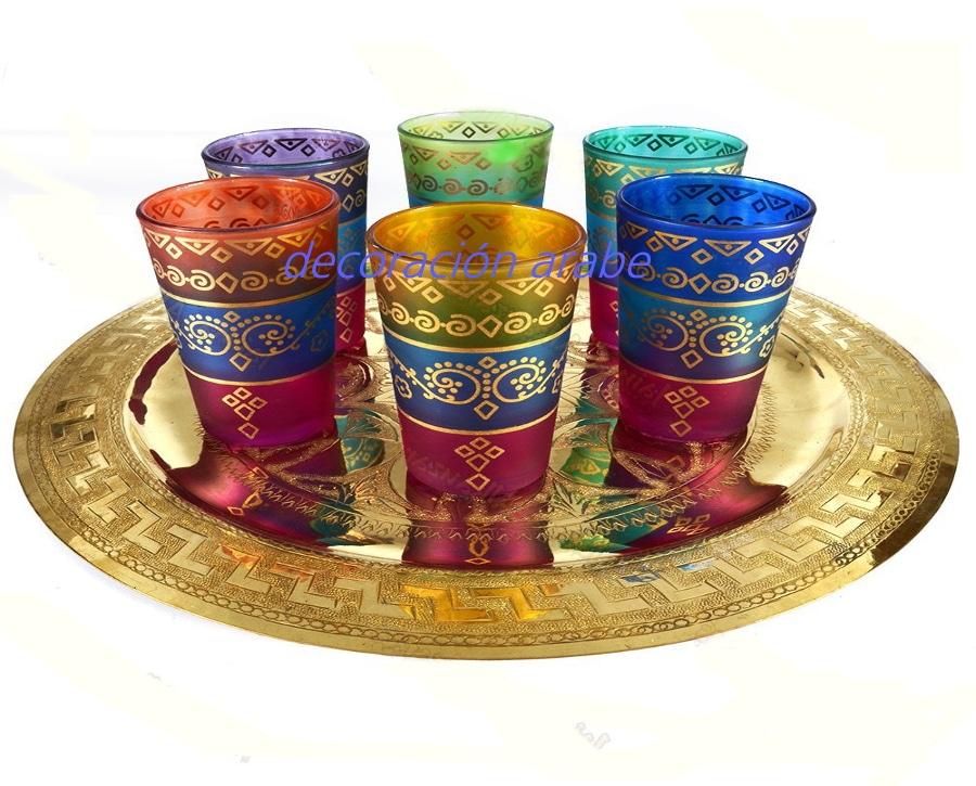 Juego vasos rabes para el t cenefa for Vasos de te