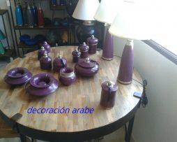 lámpara árabe mesa lila