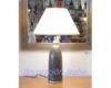 lámpara mesa marroqui gris