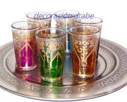 vasos árabes té Arco Oriental