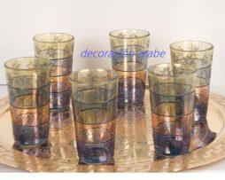 vasos té árabes estrella de Bagdad