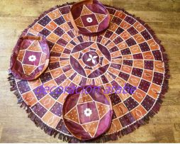 alfombra  de Niger en cuero marrón y morado