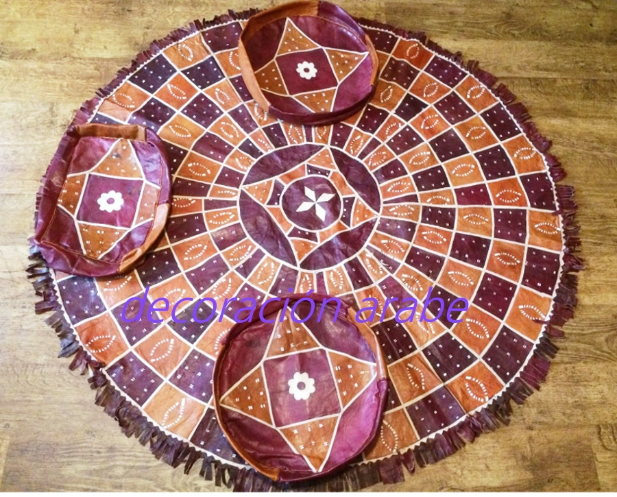 Alfombra africana tuareg de cuero for Alfombras de cuero