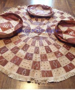 alfombra cuero africana