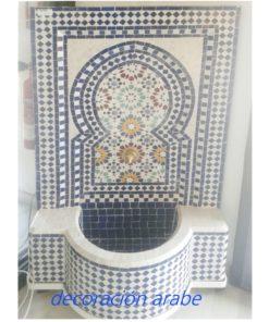 fuente marroquí jardín azul