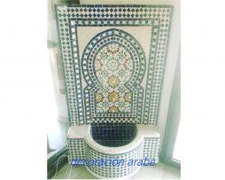 fuente marroquí  mosaico verde