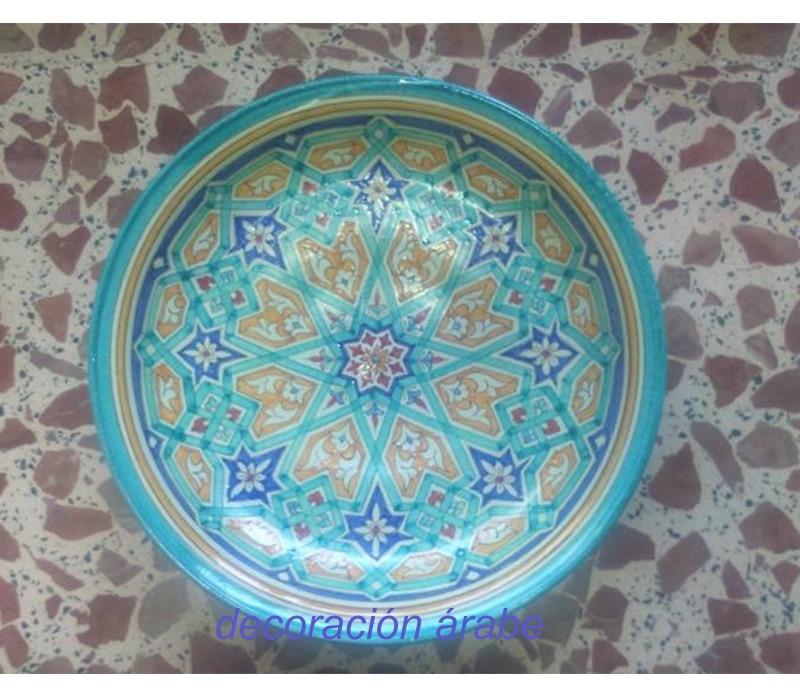 Platos de cer mica andaluza rabe andaluza - Platos ceramica colores ...