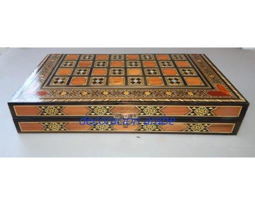 tablero ajedrez taracea