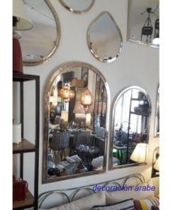 espejos árabes plateados artesanales