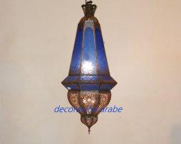 lámpara árabe Lustre azul