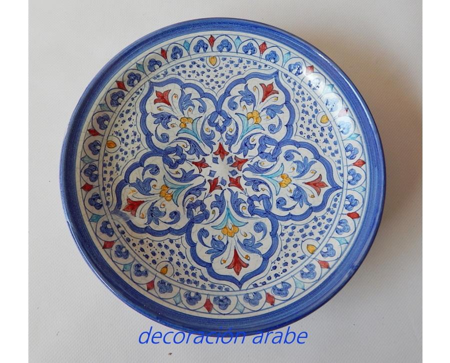 Platos y botellas azules cer mica andalus color azul decoraci n y artesan a rabe - Platos ceramica colores ...