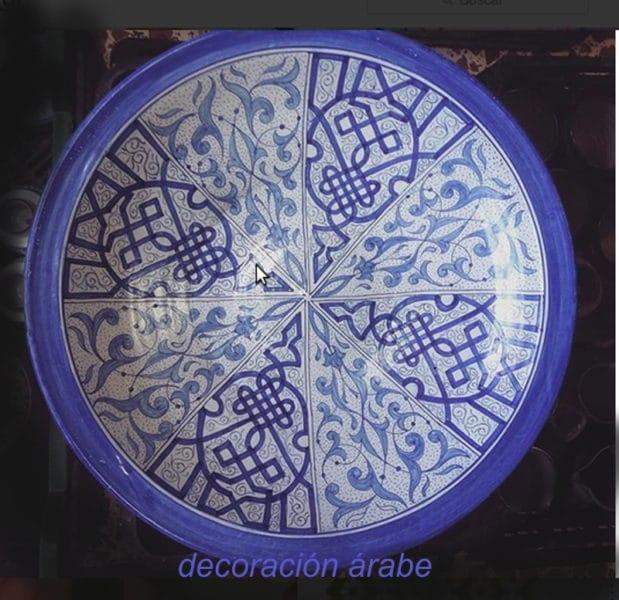 plato ceramica arabe andaluza
