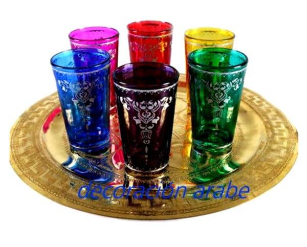 Vasos rabes marroqu es para el t for Vasos de te