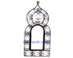 ventana  de forja espejo árabe