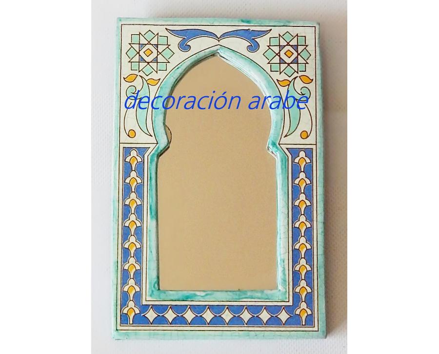 Espejo de cer mica rabe andalus - Espejos de ceramica ...