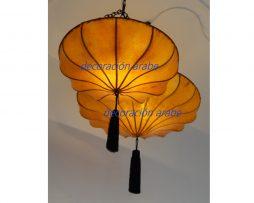lámpara oriental Tang amarilla