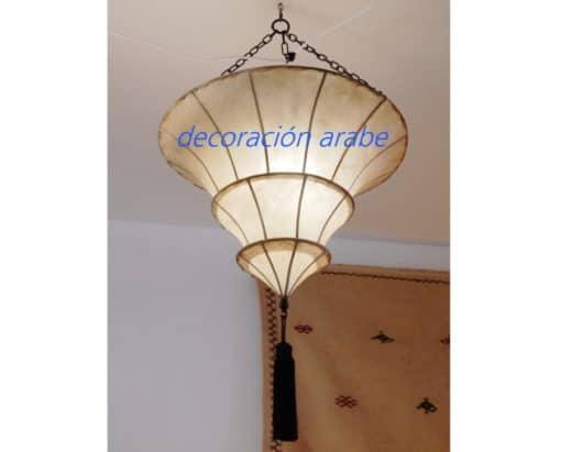 lampara marroquí piel techo