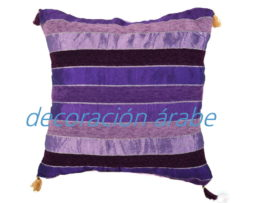 cojín india algodón morado