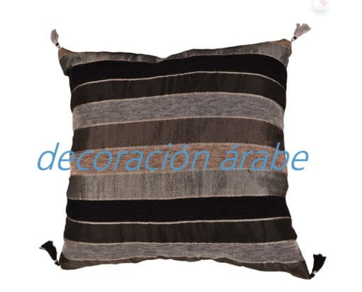 cojín india algodón negro