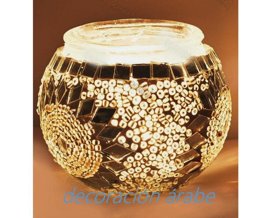 Porta velas turco de cristal de murano decoraci n y artesan a rabe - Velas y portavelas ...