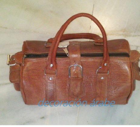 bolsa de viaje de cuero marrón