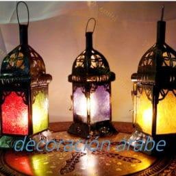 farol marroquí vela colores