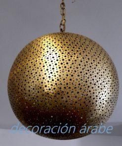lámpara árabe techo cobre