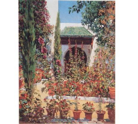 Poster mariano bertuchi jard n de tet an marruecos for Comprar azulejos sueltos